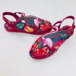 78210d6fcf1 Miss L Fire Shoes - Miss L Fire Sandals Flamingo Ankle Strap Pink Red